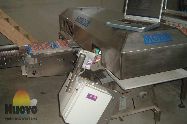 Nuovo Egg Printing and Egg Stamping Systems - Eierbeschriftungsgerät Egg Jet R1 auf Mopack